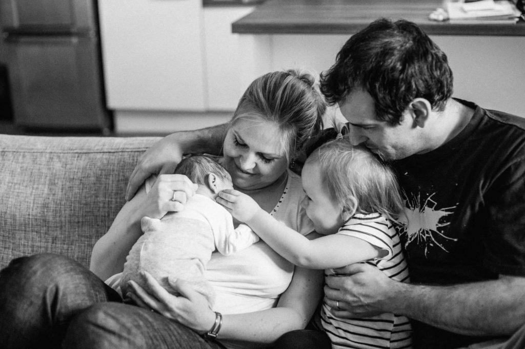 Rodina po ambulantním porodu